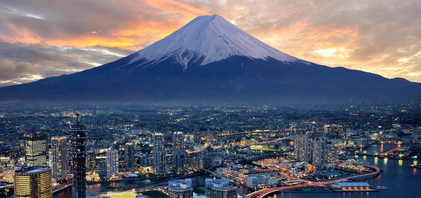 Mount Fuji and Tokyo